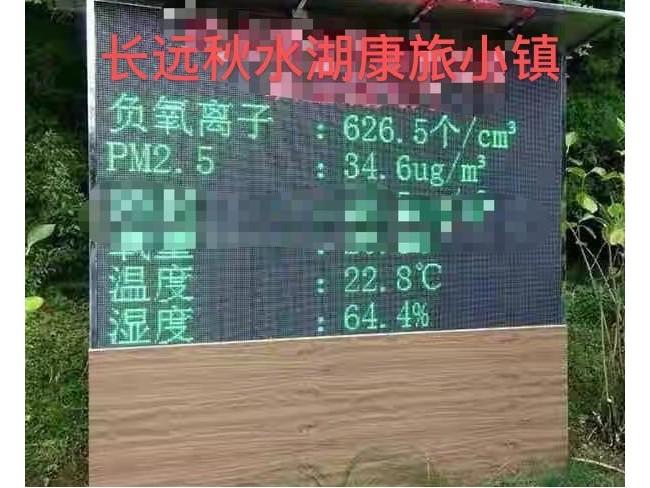 长远秋水湖康旅小镇负氧离子监测安装效果图