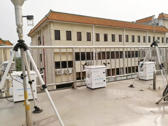 广东省环境监测中心使用源慧达微型环境空气质量监测站