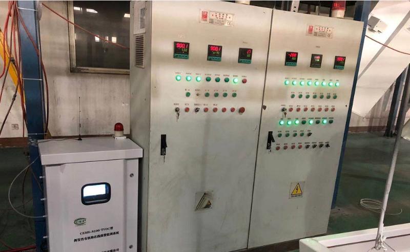 苏州恩威尔机械有限公司VOC监测设备安装现场